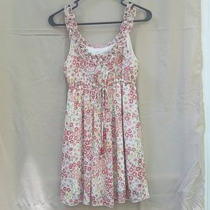 NWOT Forever 21 floral tank top tunic w/ ruffles